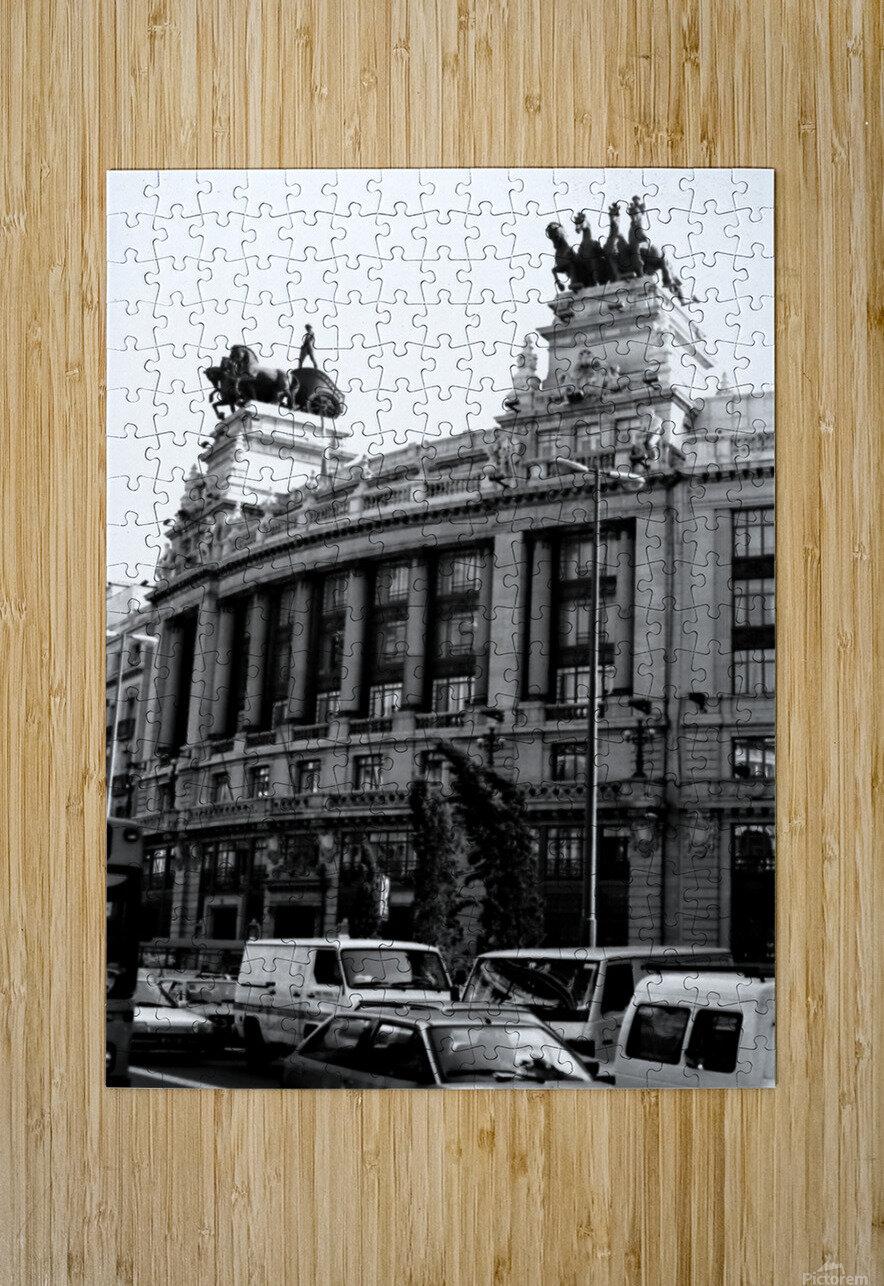 Calle de Alcalá  Madrid  HD Metal print with Floating Frame on Back