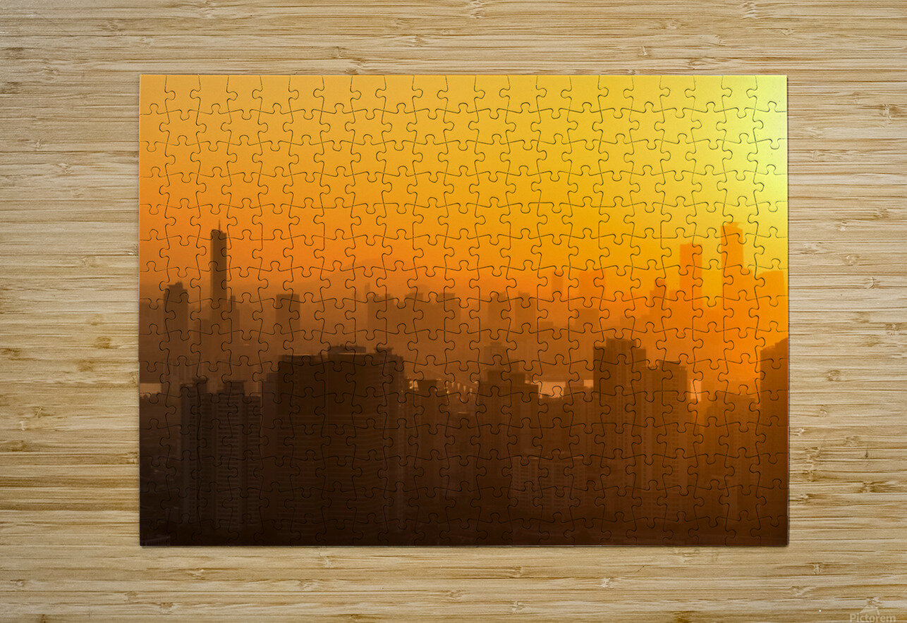 SEOUL 01  HD Metal print with Floating Frame on Back