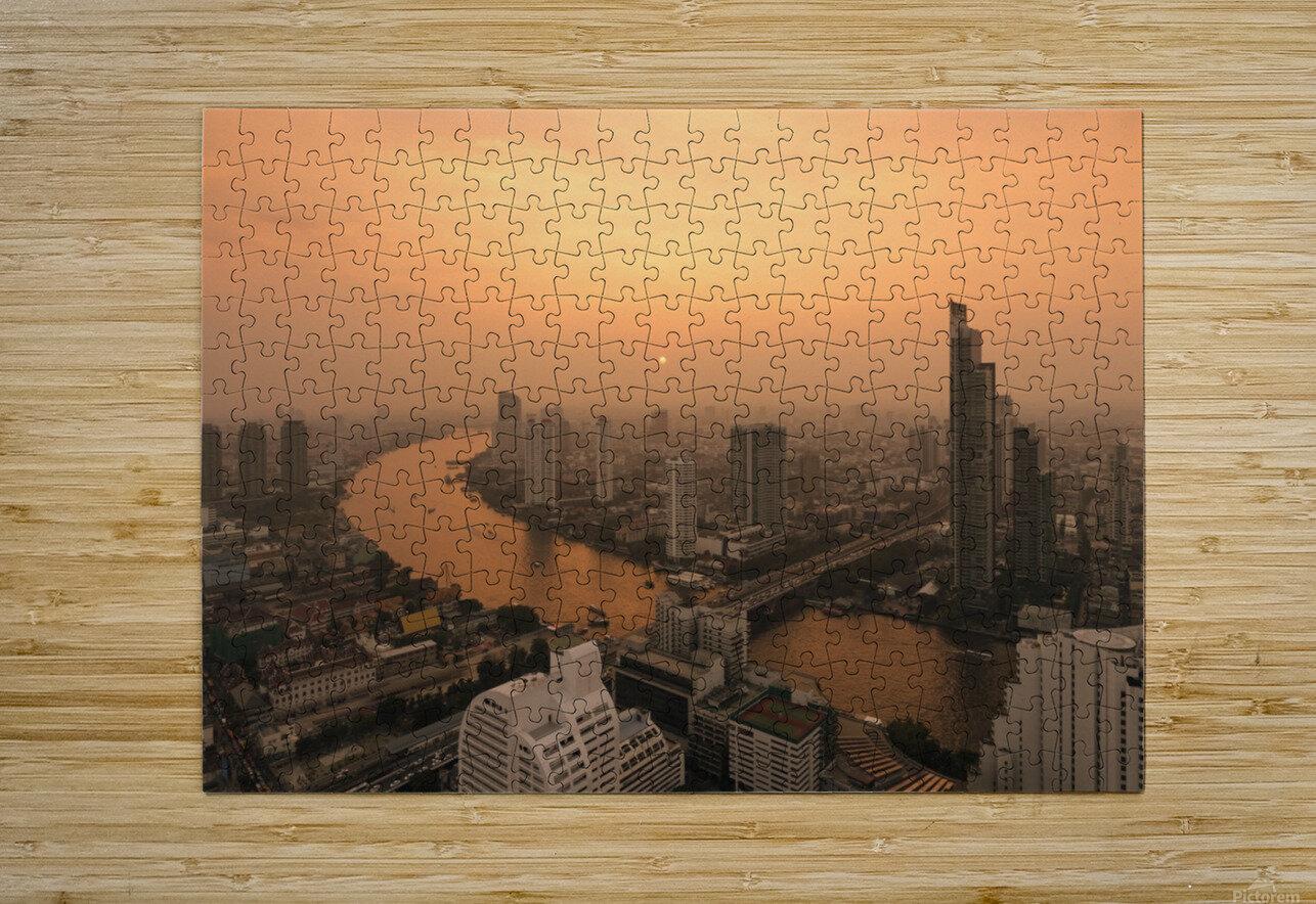 BANGKOK 01  HD Metal print with Floating Frame on Back