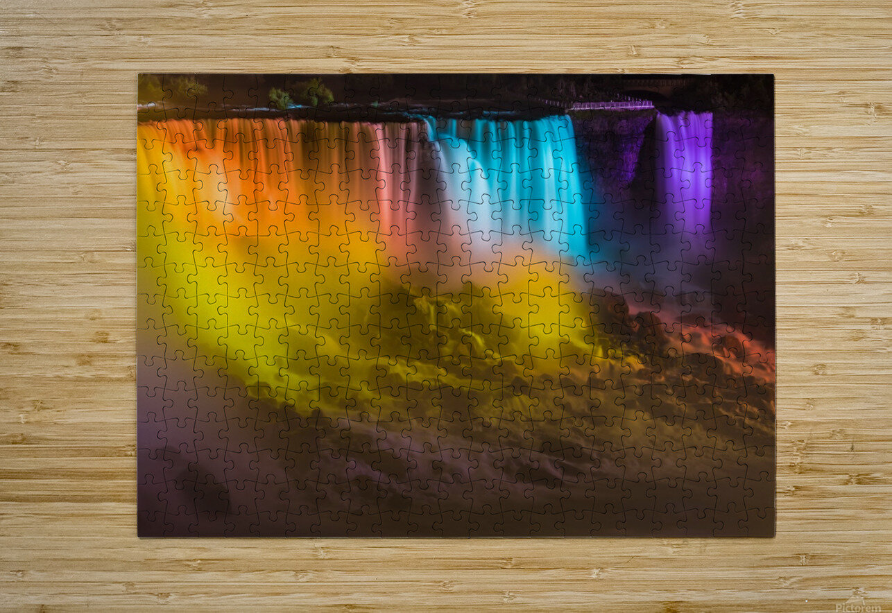 NIAGARA FALLS 10  HD Metal print with Floating Frame on Back