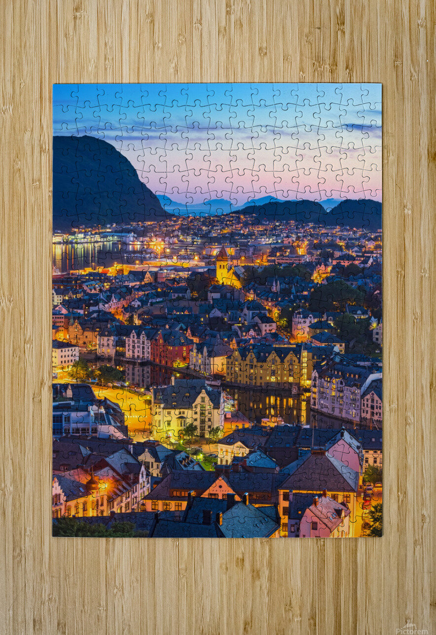 ÅLESUND 02  HD Metal print with Floating Frame on Back