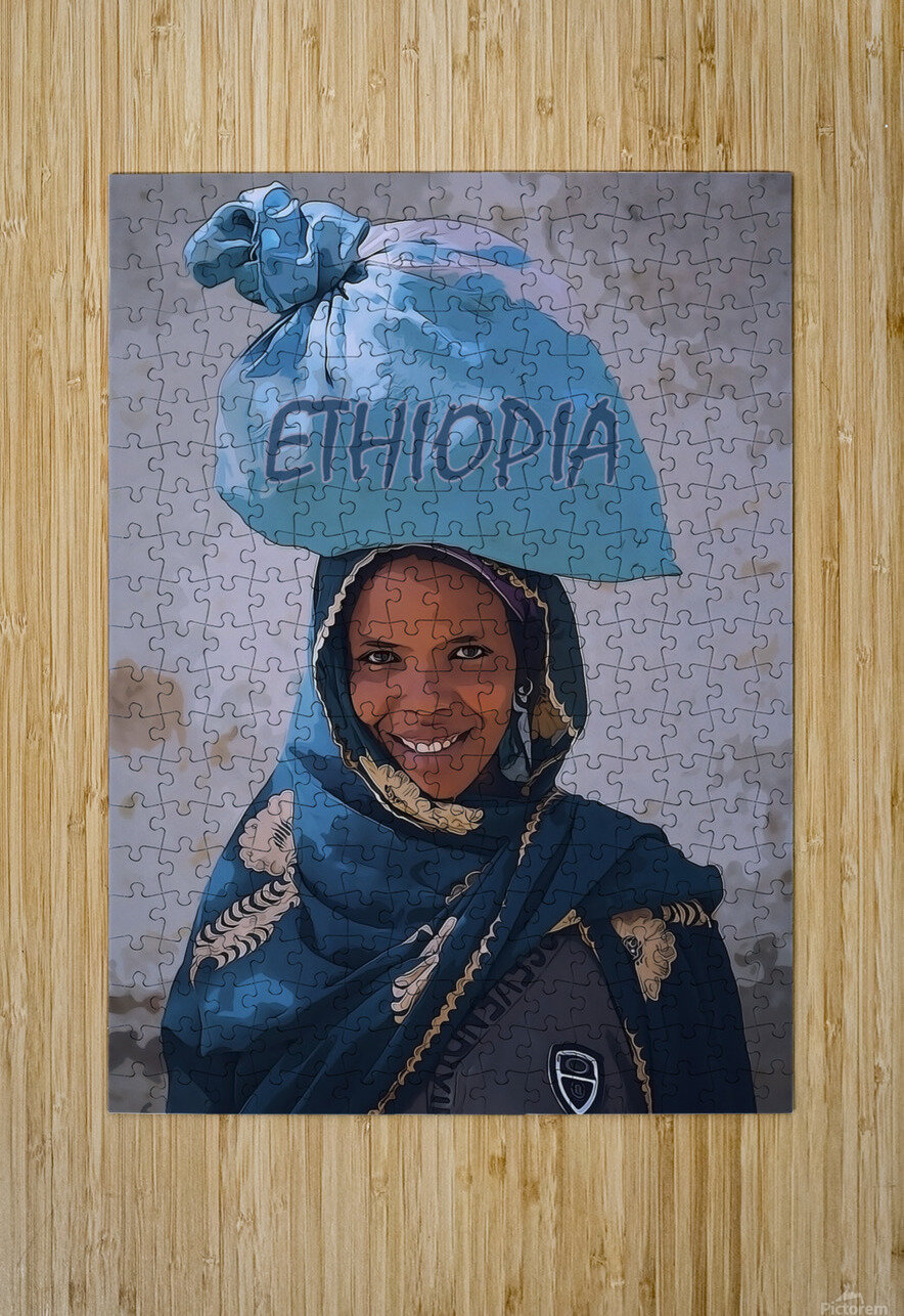 Ethiopian women  HD Metal print with Floating Frame on Back