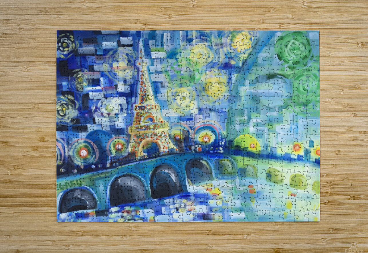 PARIS COLORS OF LOVE  HD Metal print with Floating Frame on Back