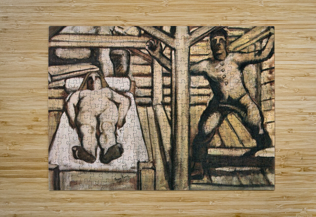 Production, design by Albin Egger-Lienz  HD Metal print with Floating Frame on Back