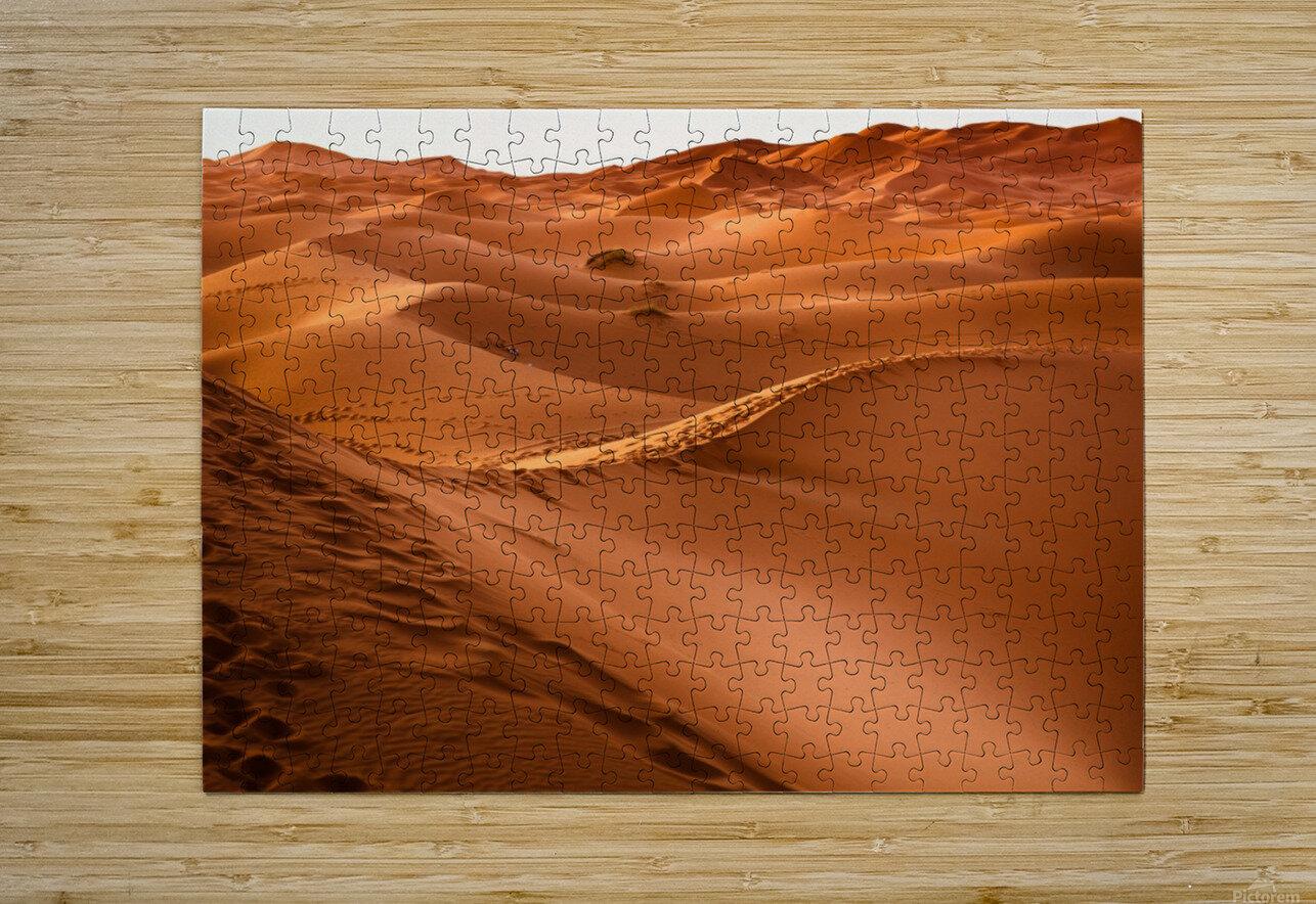 Beautiful Nature Landscape Hot Sun Desert Sahara Sand Dune Dunes Hot Climate Photography landscape photo Scenery  HD Metal print with Floating Frame on Back