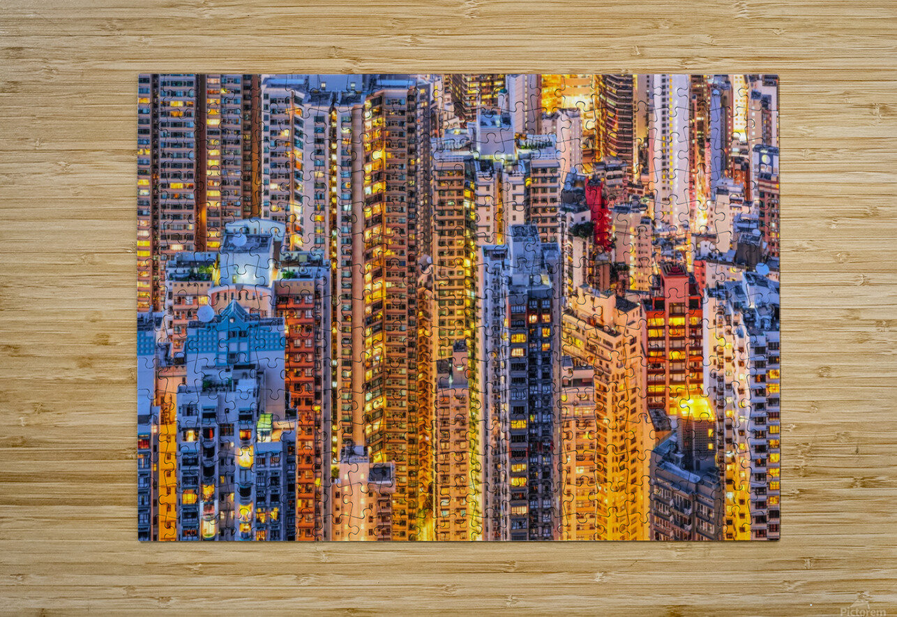 HONG KONG 34  HD Metal print with Floating Frame on Back