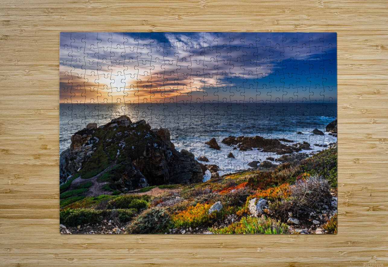 sea, seashore, water, nature, sky, blue, summer, landscape, colorful, clouds, sunset, outdoor,  HD Metal print with Floating Frame on Back