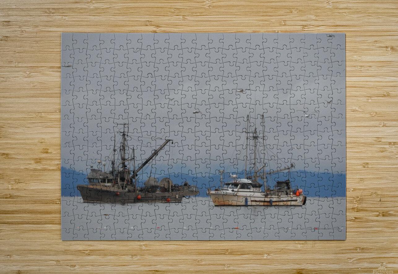 Herring Season  HD Metal print with Floating Frame on Back