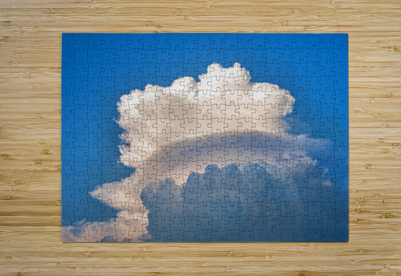 Atomic Cloud  HD Metal print with Floating Frame on Back