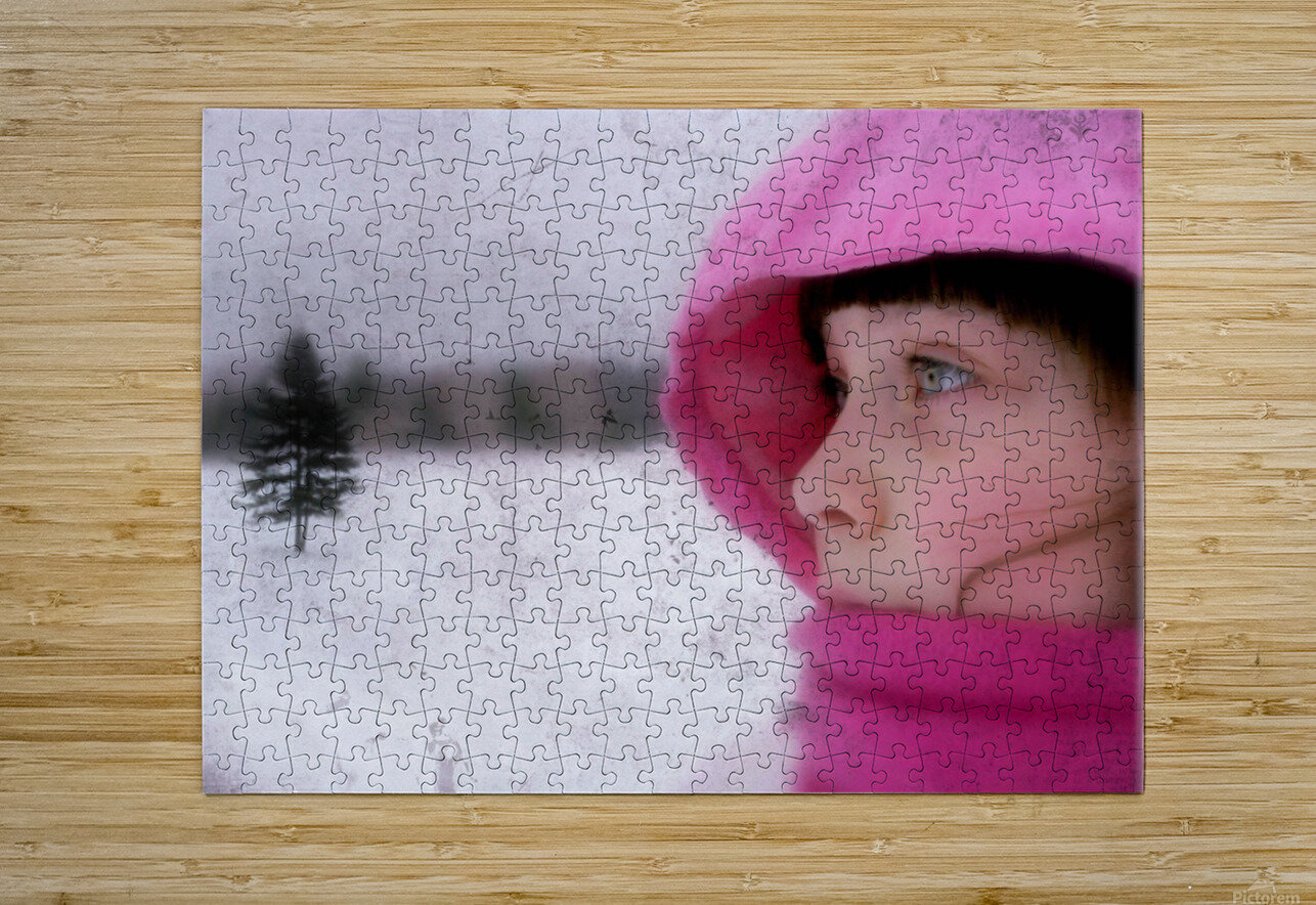 Winter pink  HD Metal print with Floating Frame on Back