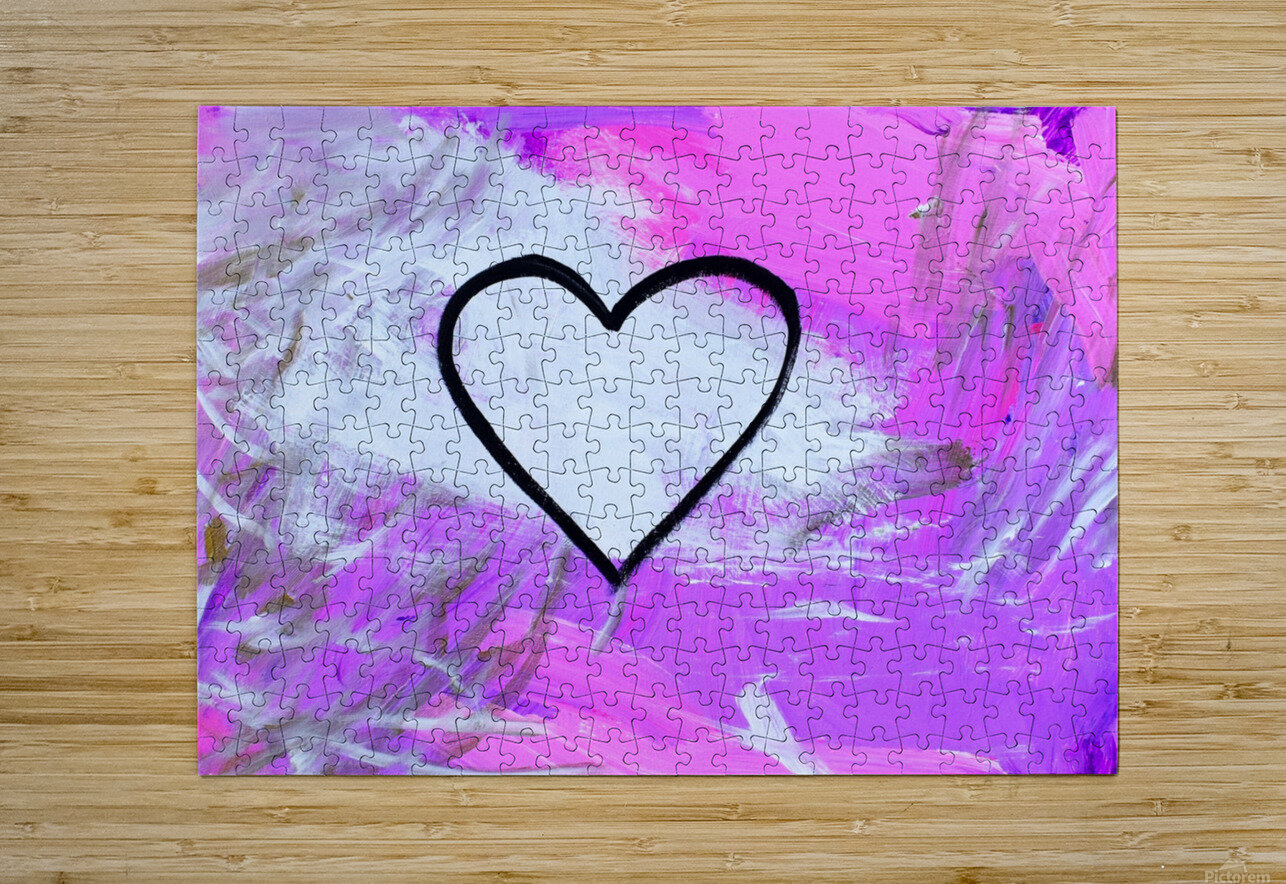 Love is a Feeling. Jessica B  HD Metal print with Floating Frame on Back