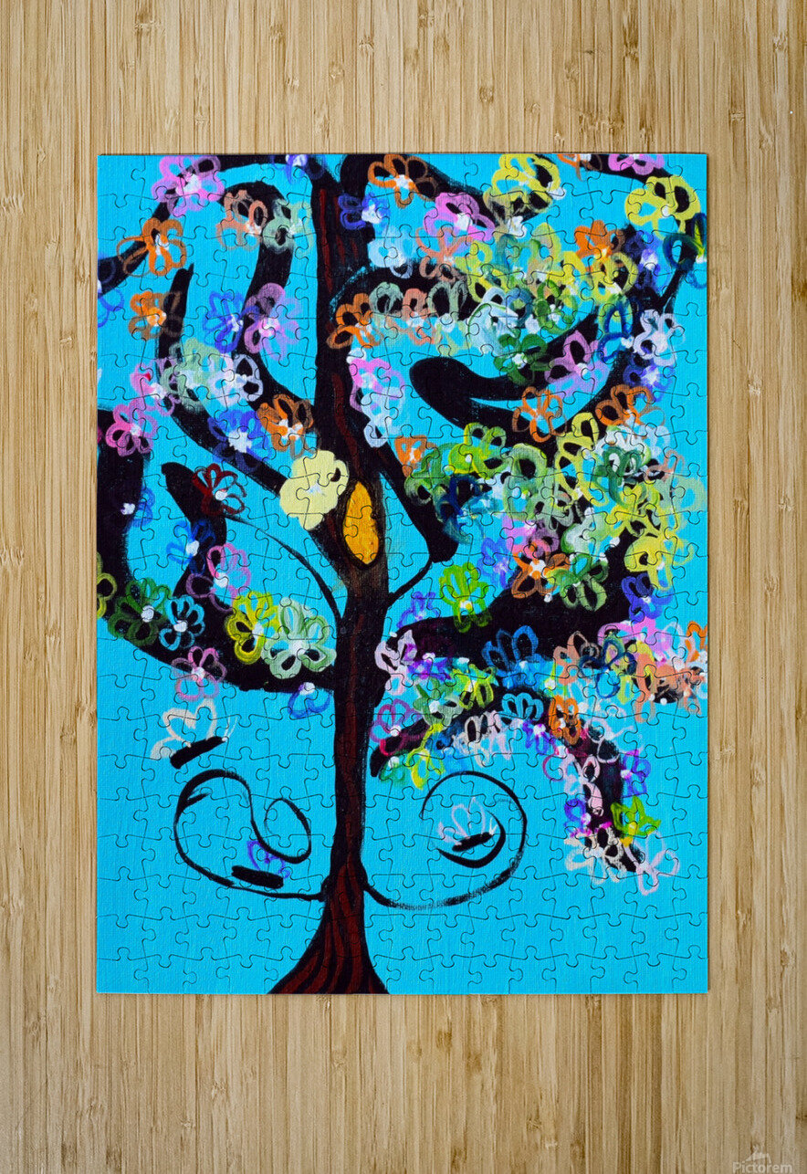 Free Spirit Tree. Molly H  HD Metal print with Floating Frame on Back