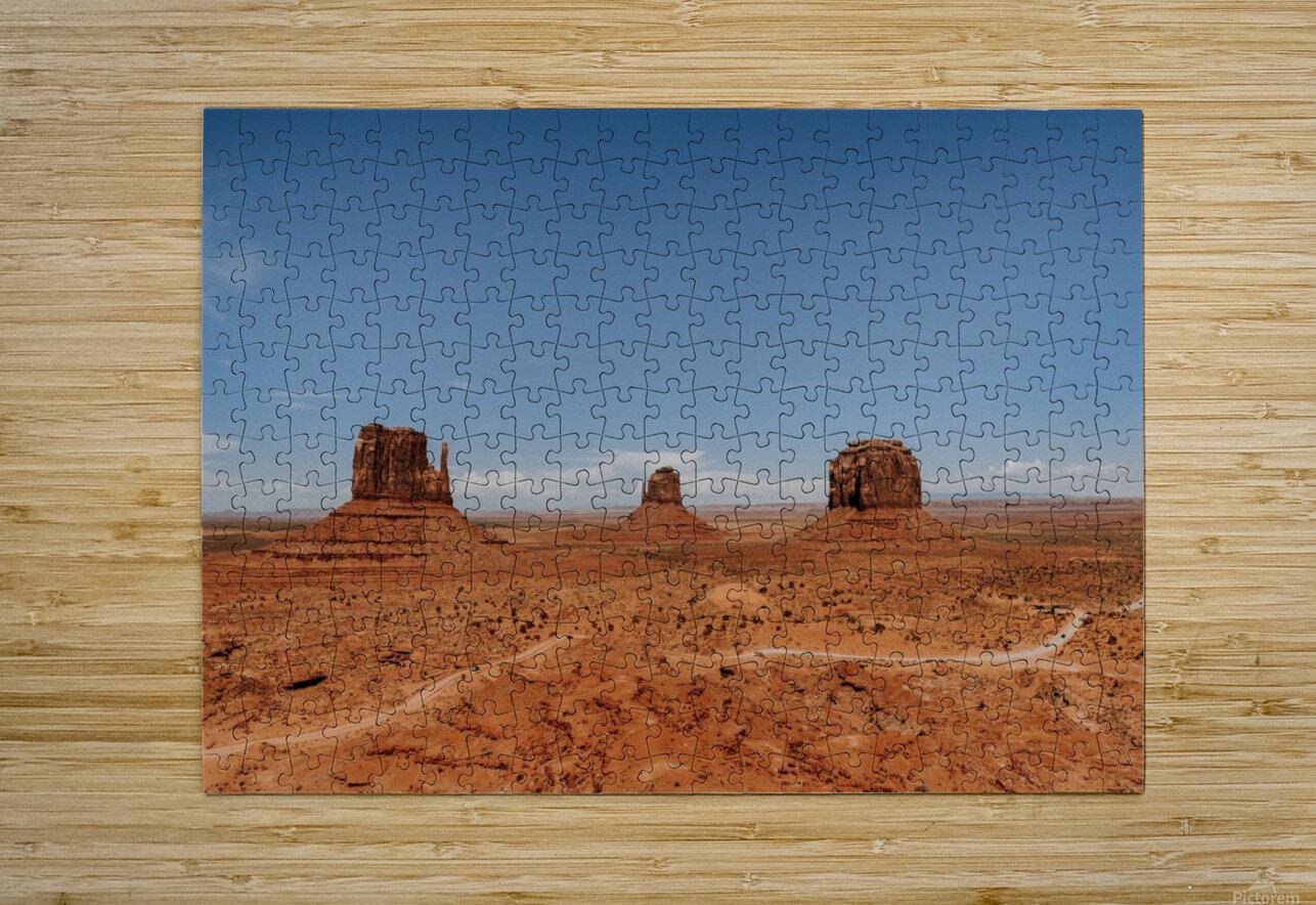 Monument Valley  Impression métal HD avec cadre flottant sur le dos
