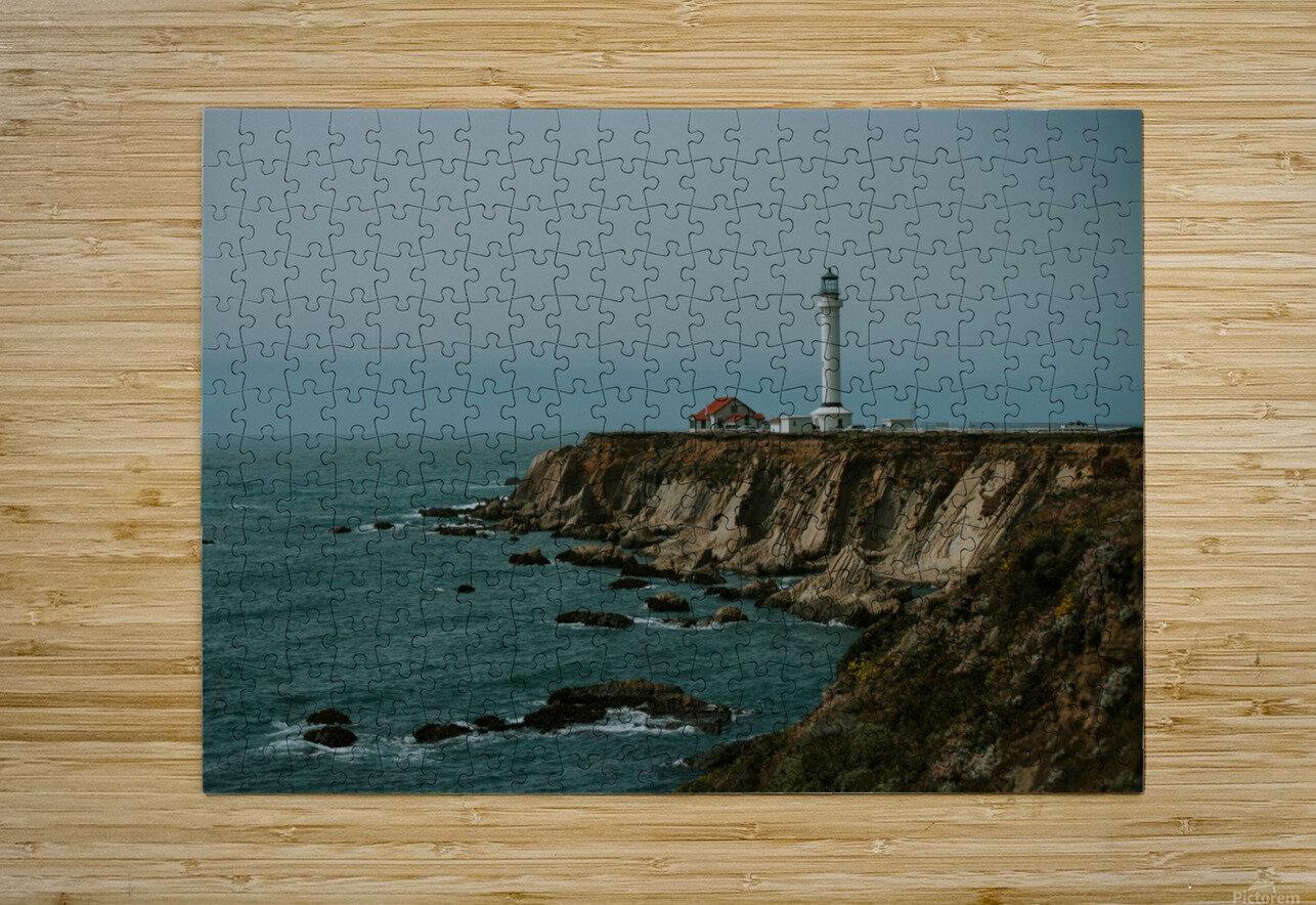 Point Arena Lighthouse California  Impression métal HD avec cadre flottant sur le dos