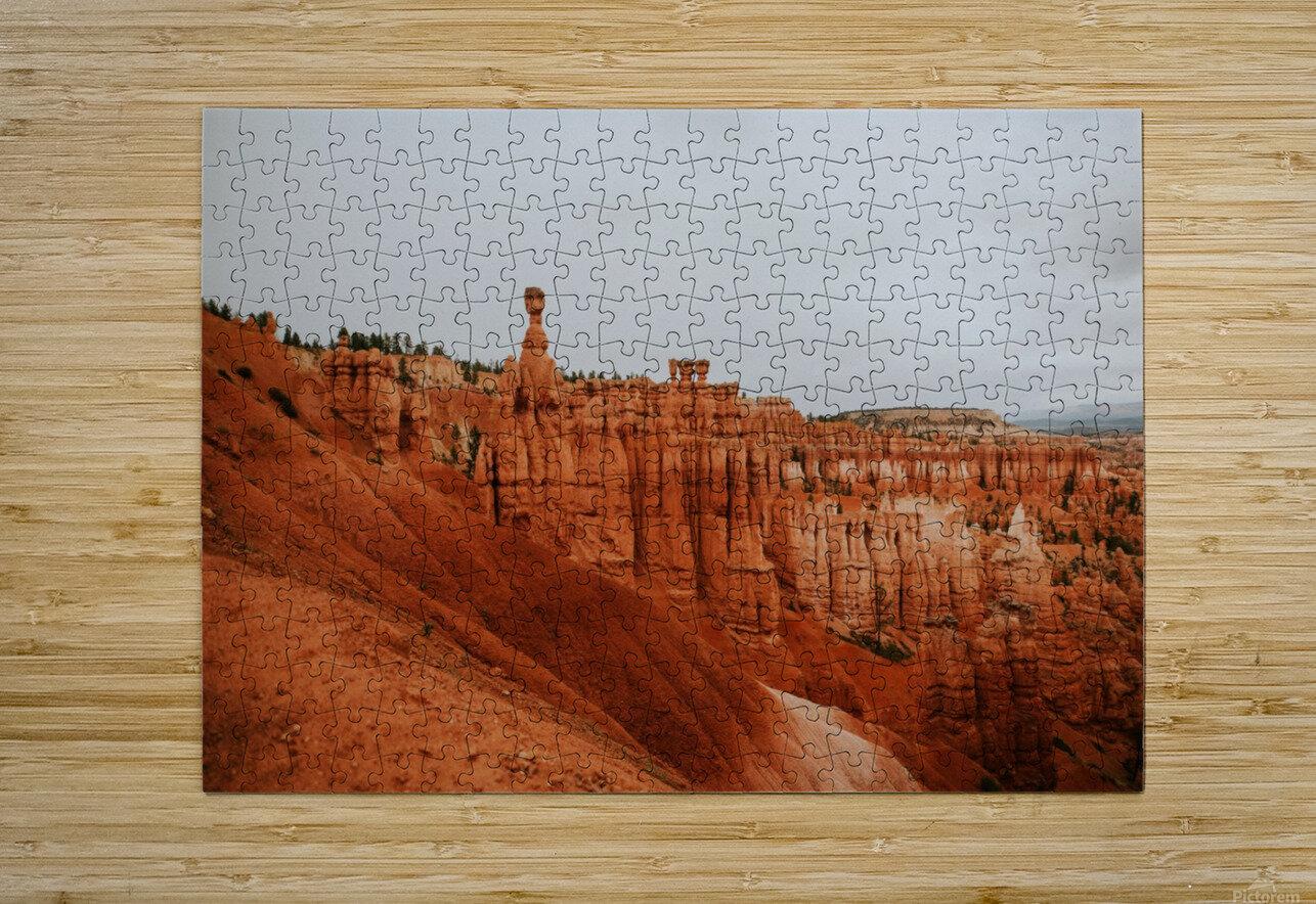 Bryce Canyon Utah  Impression métal HD avec cadre flottant sur le dos