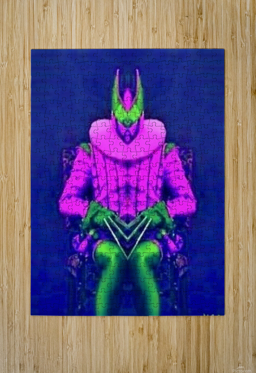 Man in a Chair 2 -   by Neil Gairn Adams  HD Metal print with Floating Frame on Back