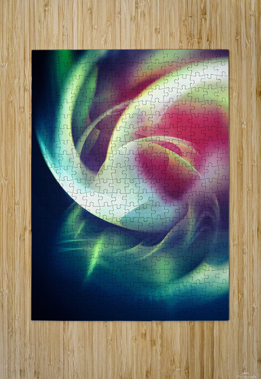 Abstract Art XIII  HD Metal print with Floating Frame on Back