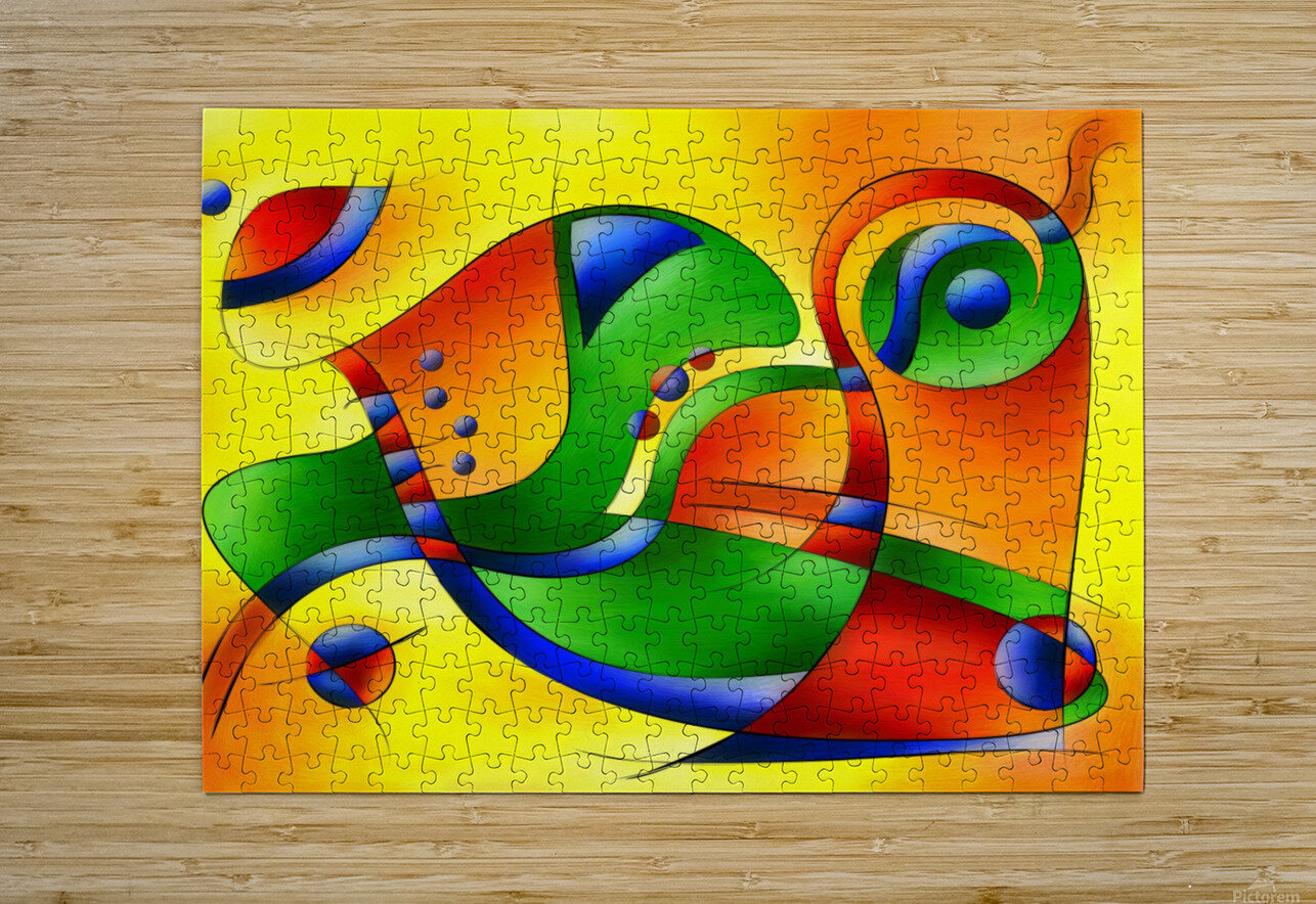 Antaressa - colourful world  HD Metal print with Floating Frame on Back