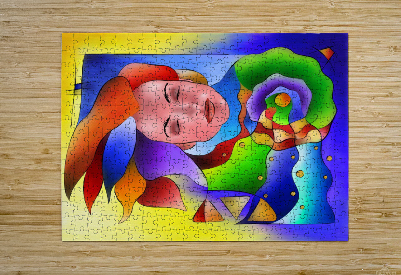 Fasettonia - colourful spirit  HD Metal print with Floating Frame on Back