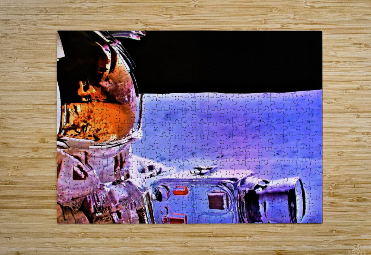 Historic Photography on the Moon - by Neil Gairn Adams  HD Metal print with Floating Frame on Back