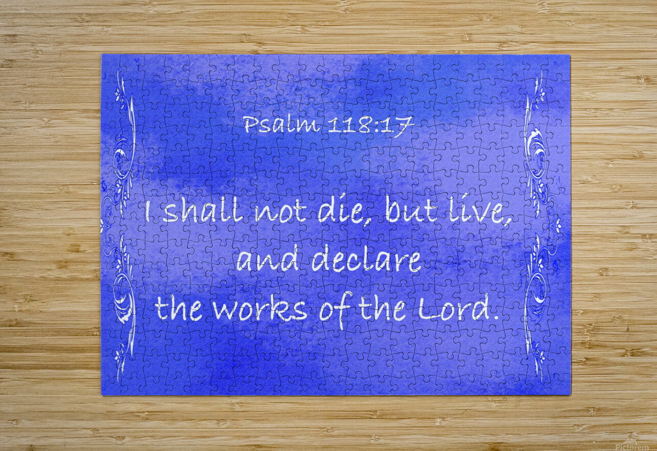 Psalm 118 17 4BL  HD Metal print with Floating Frame on Back