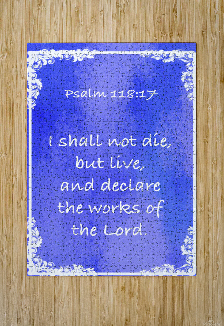 Psalm 118 17 8BL  HD Metal print with Floating Frame on Back