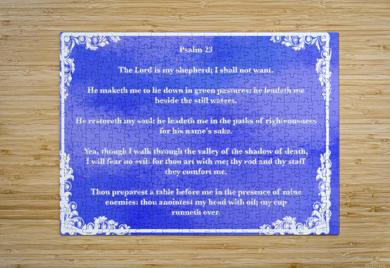 Psalm 23 9BL  HD Metal print with Floating Frame on Back