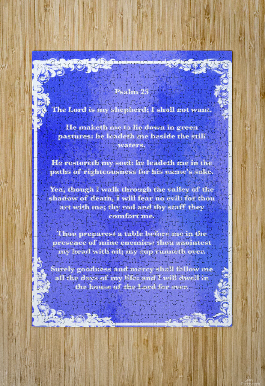 Psalm 23 8BL  HD Metal print with Floating Frame on Back