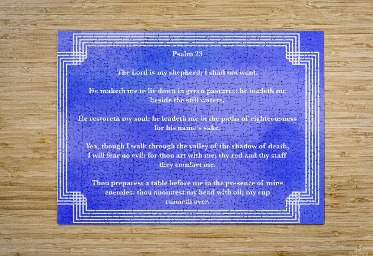 Psalm 23 2BL_1547777687.78  HD Metal print with Floating Frame on Back