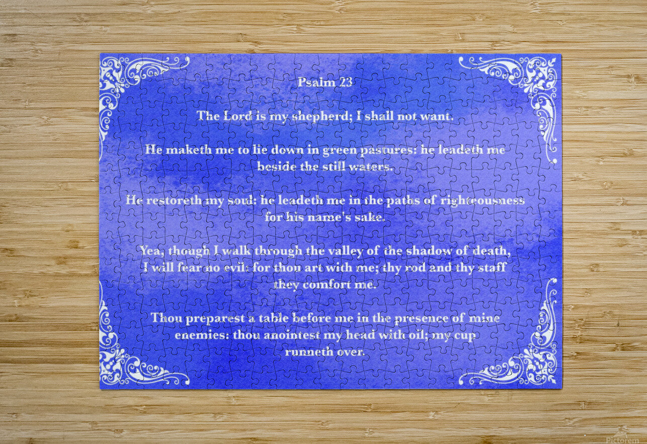Psalm 23 5BL  HD Metal print with Floating Frame on Back