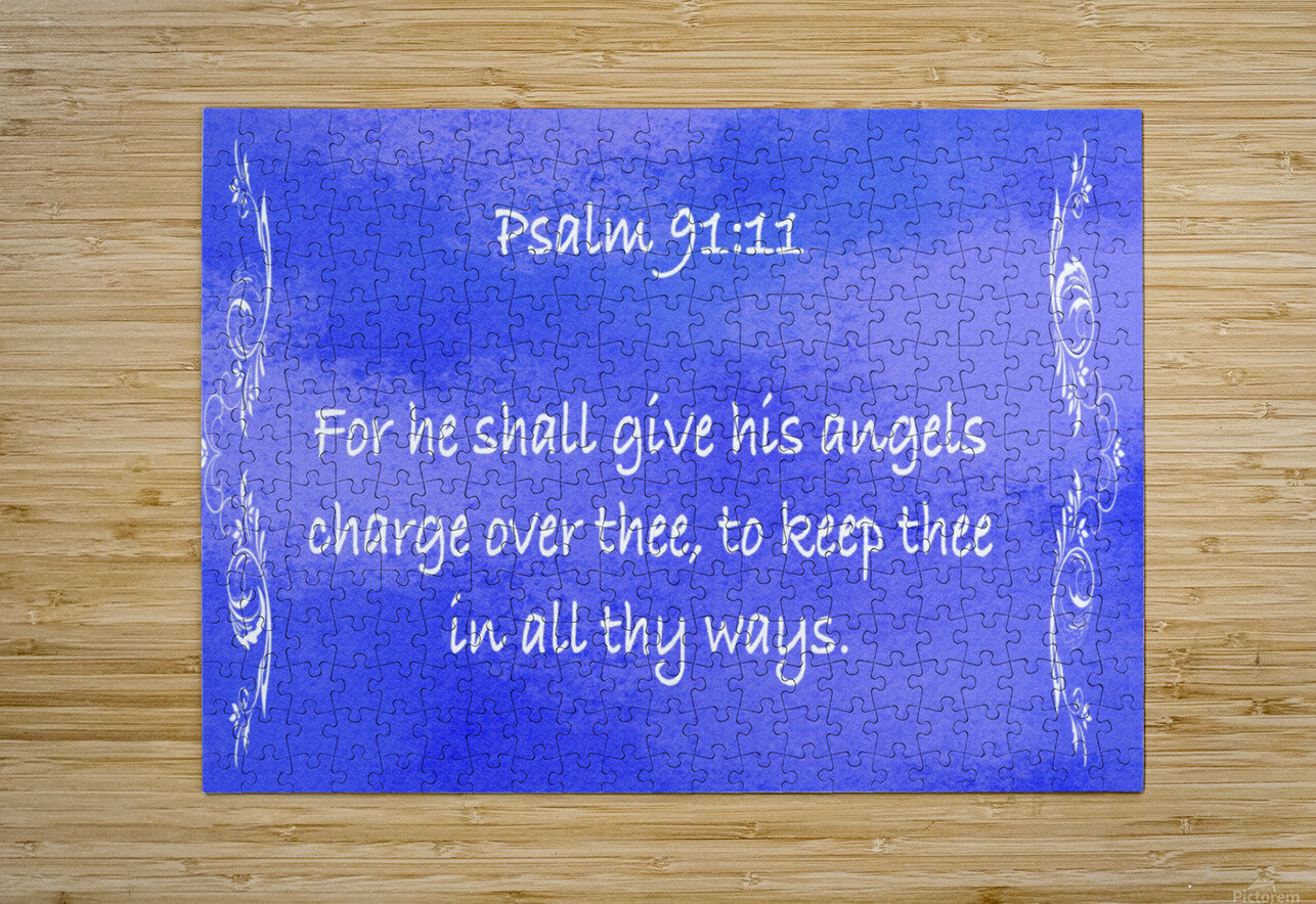 Psalm 91 11 4BL  HD Metal print with Floating Frame on Back