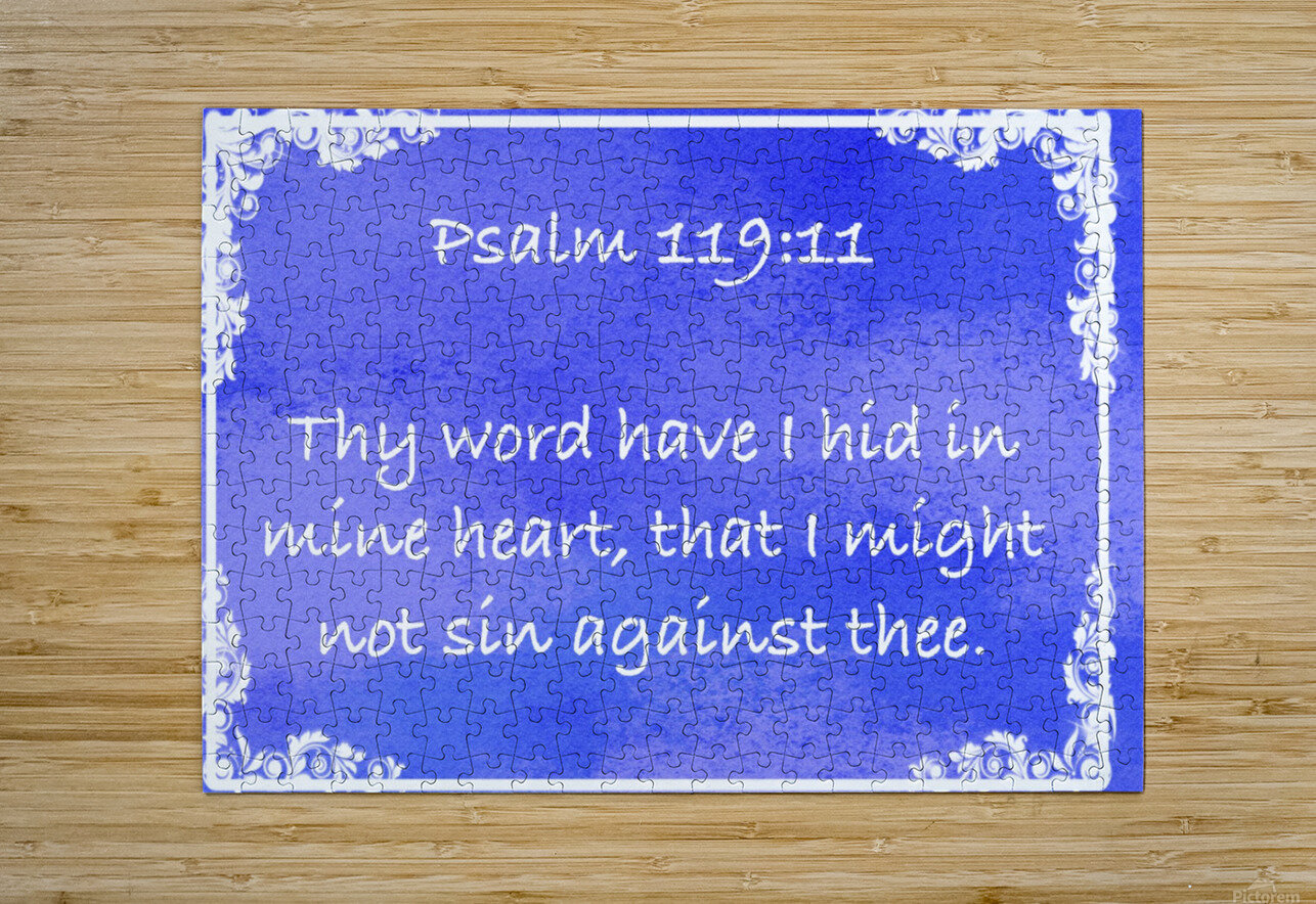 Psalm 119 11 8BL  HD Metal print with Floating Frame on Back