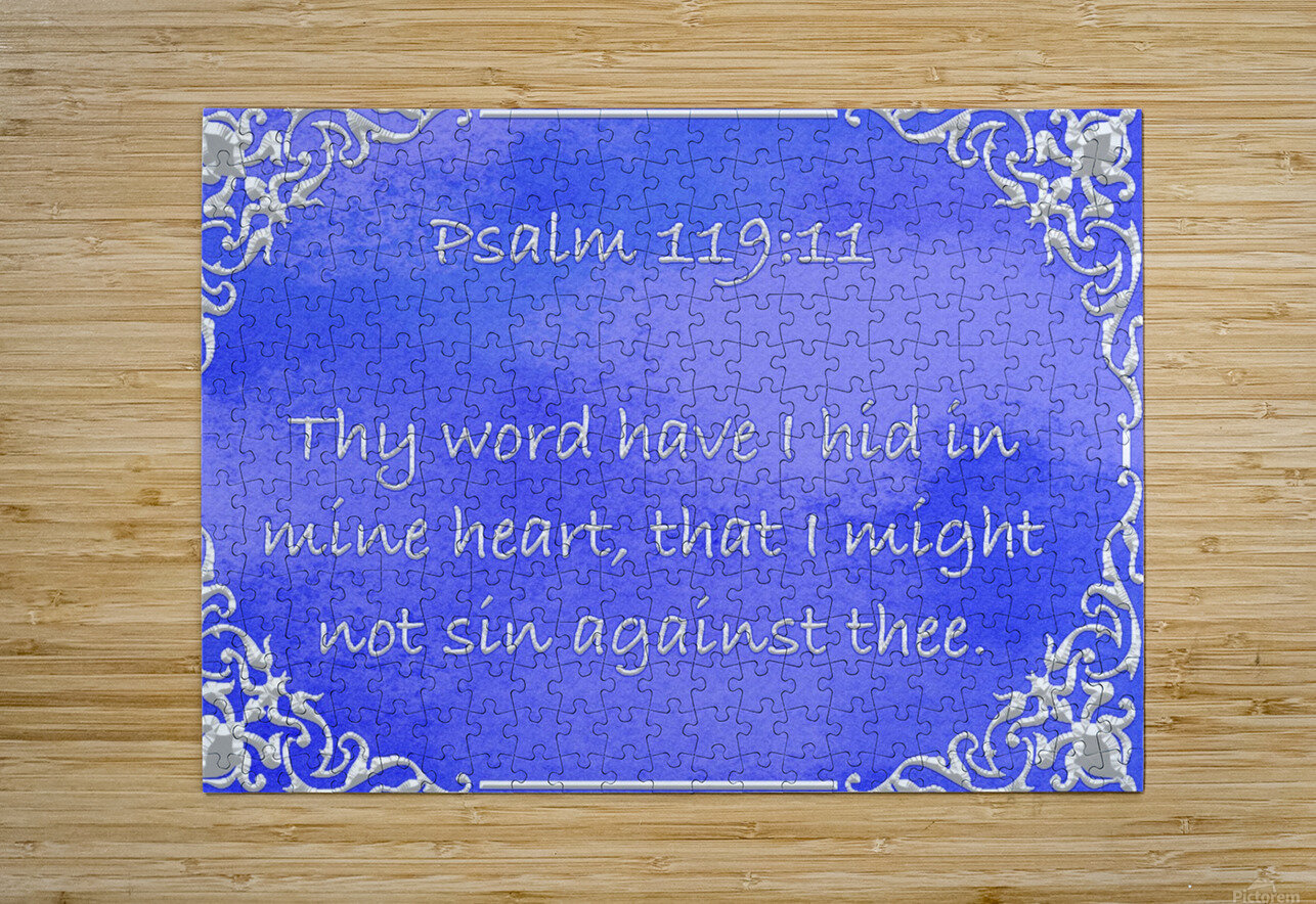 Psalm 119 11 1BL  HD Metal print with Floating Frame on Back