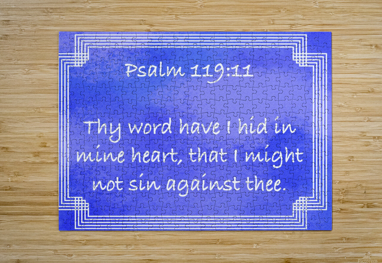 Psalm 119 11 2BL  HD Metal print with Floating Frame on Back