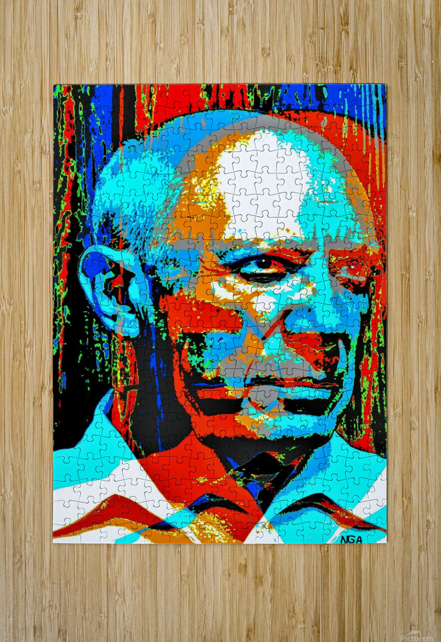 Pablo Picasso - by Neil Gairn Adams  HD Metal print with Floating Frame on Back