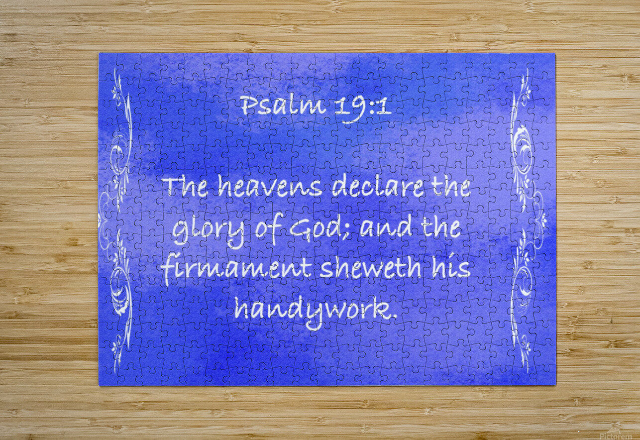 Psalm 19 1 4BL  HD Metal print with Floating Frame on Back
