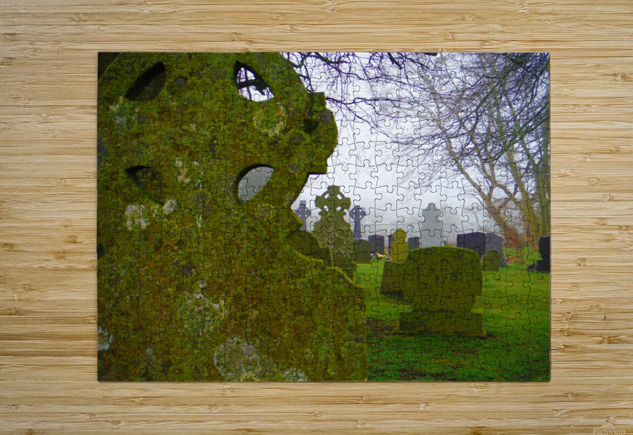 Irish Cemetery  HD Metal print with Floating Frame on Back