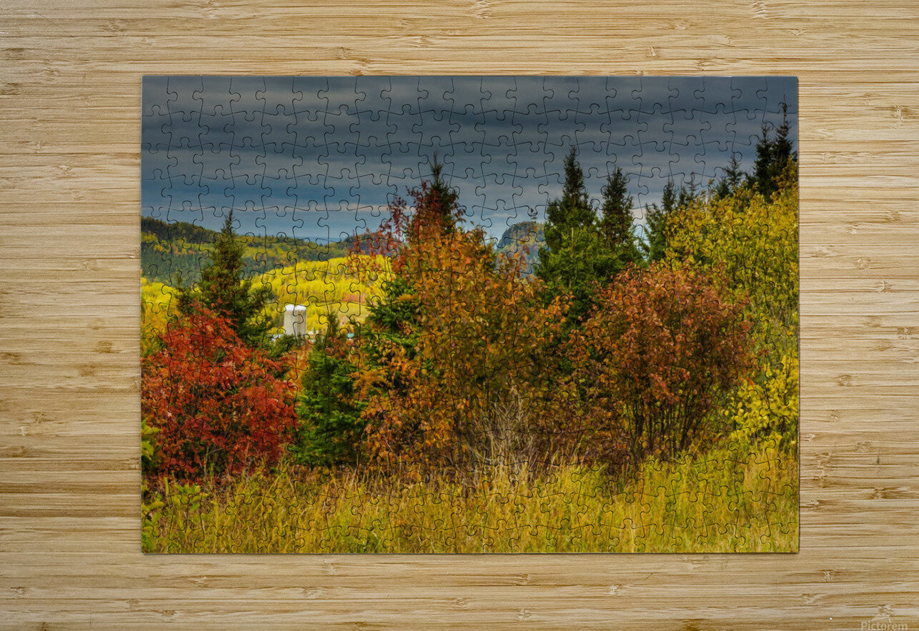 Autumn rainbow  HD Metal print with Floating Frame on Back