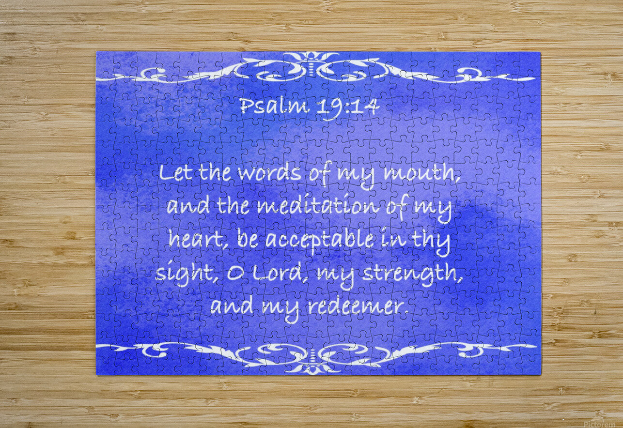 Psalm 19 14 3BL  HD Metal print with Floating Frame on Back
