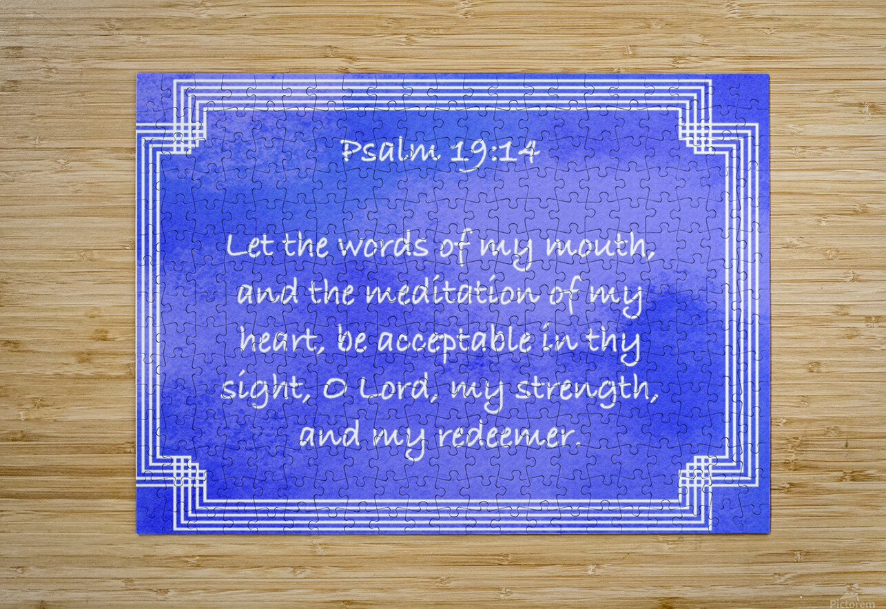 Psalm 19 14 2BL  HD Metal print with Floating Frame on Back