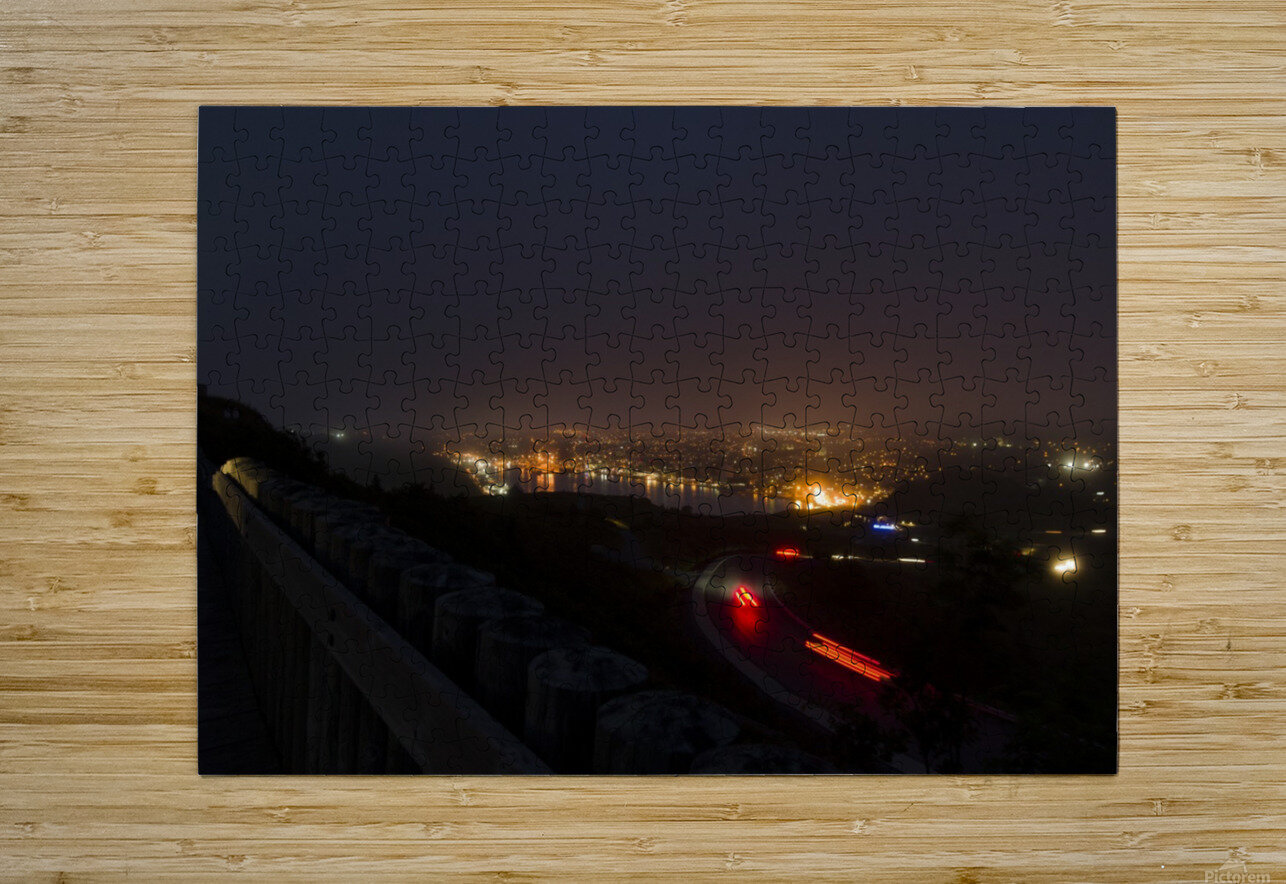 Night Scene from Signal Hill 7  HD Metal print with Floating Frame on Back