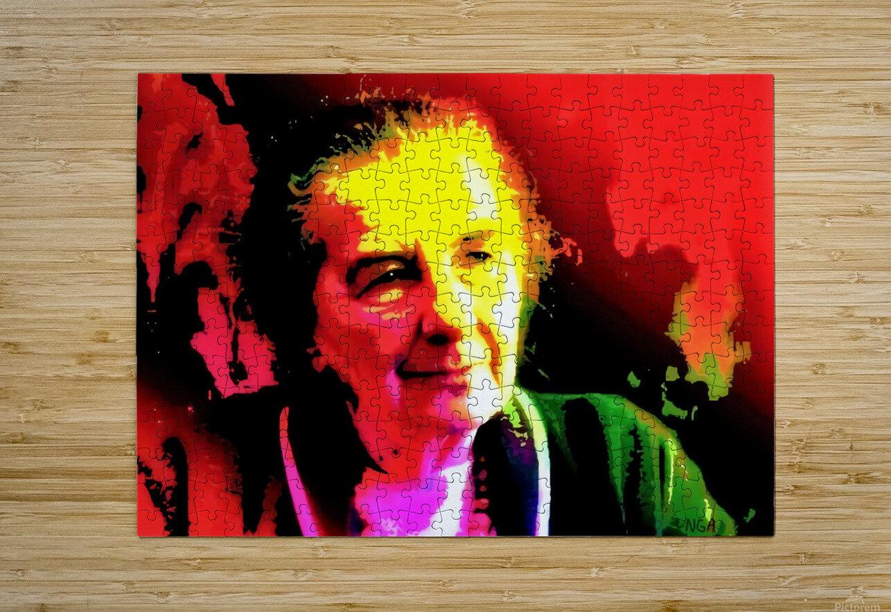 Golda Meier - P.M. of Israel - by Neil Gairn Adams  HD Metal print with Floating Frame on Back