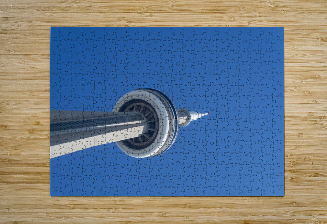 CN Tower 3  HD Metal print with Floating Frame on Back