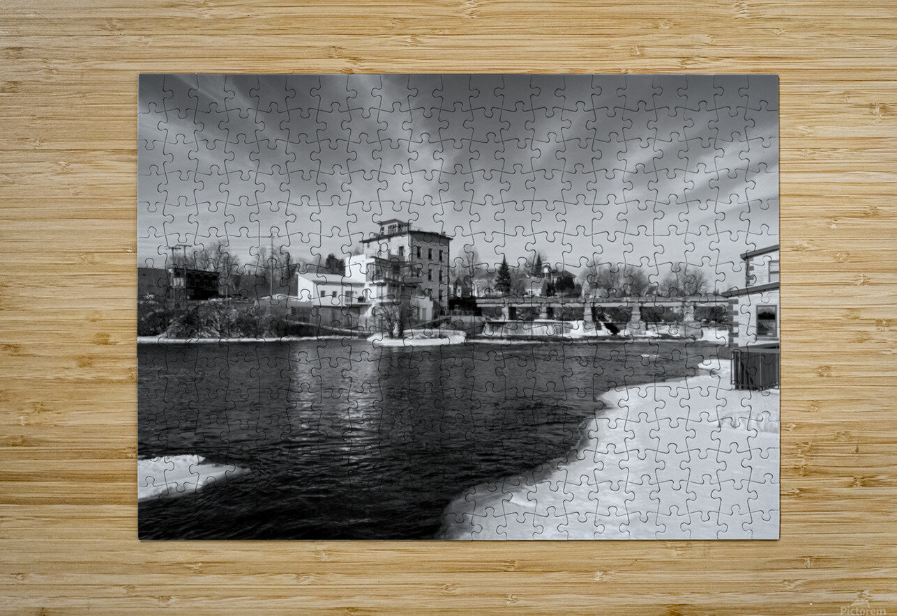 Almonte Spring 1 b&w  HD Metal print with Floating Frame on Back