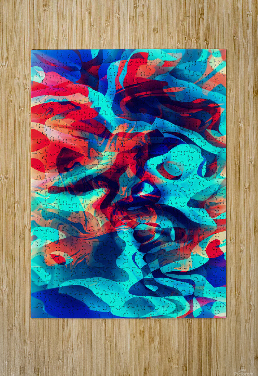 VIVID Abstraction II  HD Metal print with Floating Frame on Back