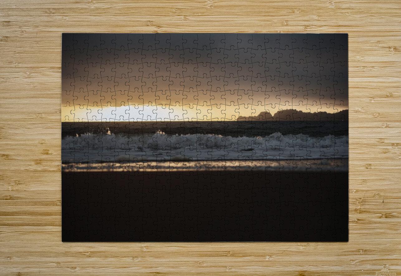 San Francisco Sunset  Impression métal HD avec cadre flottant sur le dos