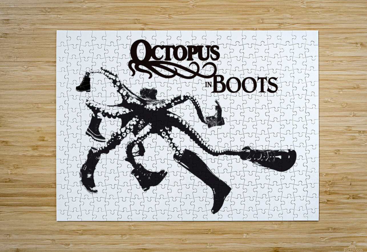 Octopus in Boots  HD Metal print with Floating Frame on Back