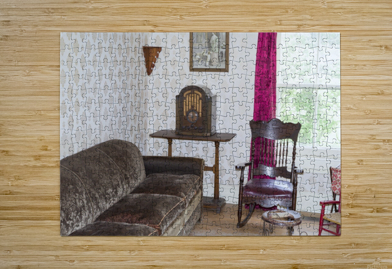 1920s living room  HD Metal print with Floating Frame on Back