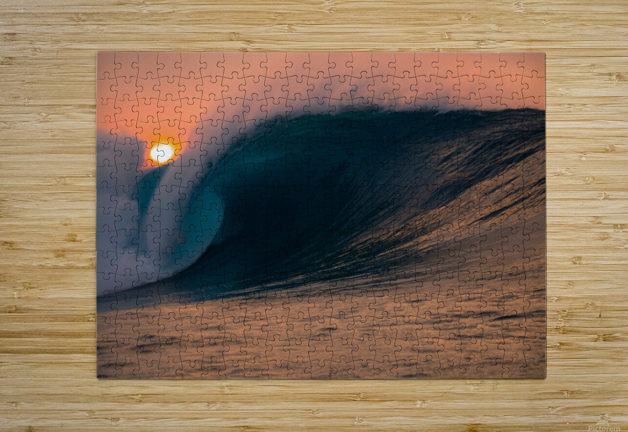 Giant surf  HD Metal print with Floating Frame on Back
