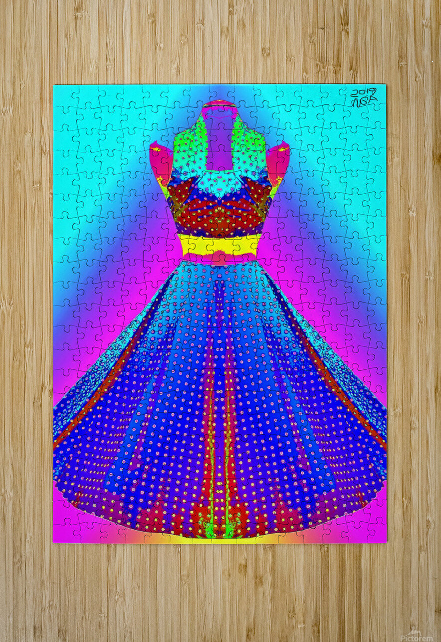 The Dress  -  by Neil Gairn Adams  HD Metal print with Floating Frame on Back